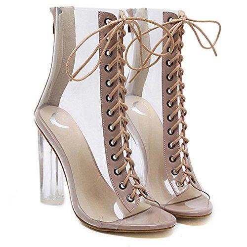 Römischen Kostüm - Malloom® Römische Schnalle Schuhe Frauen Sandalen Sexy Sandalen High Heels Frau Stiefeletten Römersandalen mit Hohen Absätzen