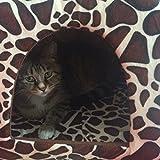 Demiawaking Weiche Haustier Schlafsack Hundehütte Katzenhöhle Hund Katze Haus (S, Leopard Farbe) - 4