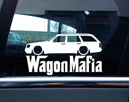 Preisvergleich Produktbild Abgesenkt Mercedes W124/T124E-Klasse Kombi Wagon Mafia Auto Silhouette Aufkleber