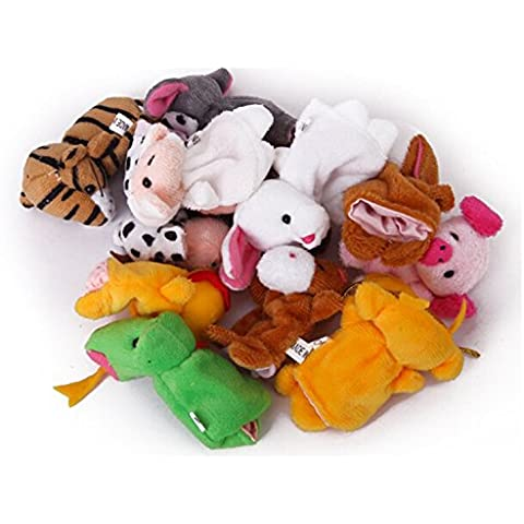 12pcs Natale Zodiac Storytelling Puntelli Finger Puppet bambini bambini Toys - Natale Mouse Story