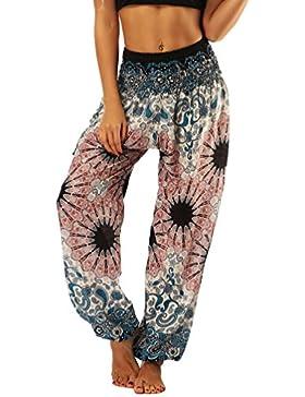 Lvguang Pantalones de Linterna Deportivas Impresión Mujer Pantalones Yoga Mujeres Fitness Yoga Pantaló Pilates...