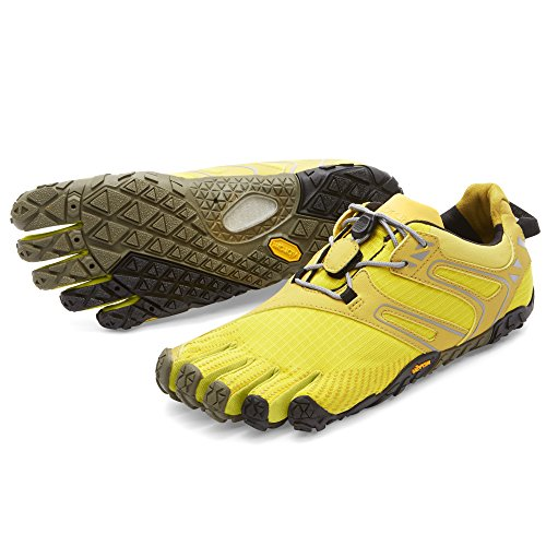Vibram FiveFingers Damen V-Trail Traillaufschuhe Gelb (Yellow/Black) 40 EU