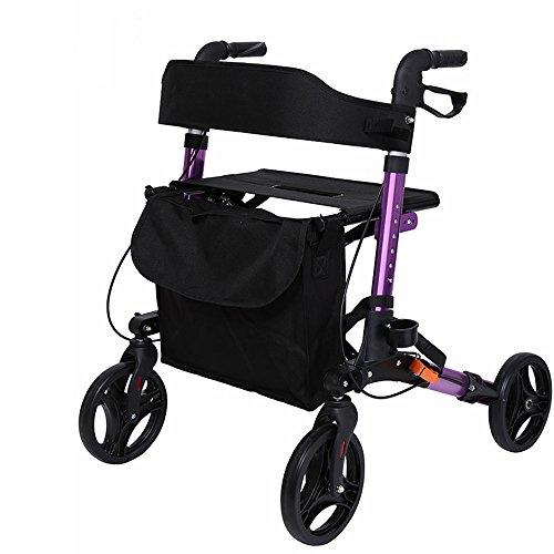 ZZHF Crutch Aluminium Rad mit einem Walker Elderly Trolley Aide Warenkorb 2 Farben erhältlich Gehhilfe ( Farbe : A )