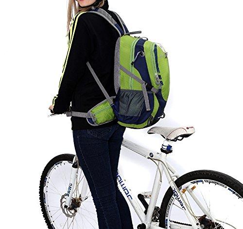 Cuckoo 25L wasserdicht Camping Reisen Radfahren Rucksack Wandern Daypacks Sport Rucksack mit Regen Abdeckung Laptop-Fach Grün