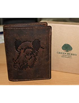 Cartera g1701de Wildboar 25de color marrón para caza Amigos Alto Piel Greenburry/lefox