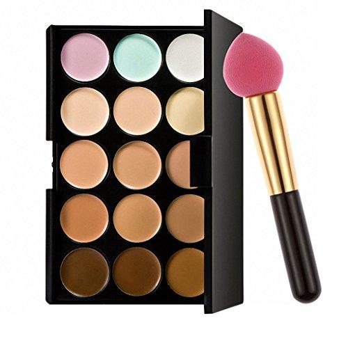 Correcteur Crème de Camouflage pour Maquillage Anticernes 15 couleurs cosmétique visage - houppe à poudre goutte d'eau