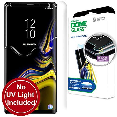 Dome Glass Galaxy Note 9 Panzerglas Displayschutzfolie für Samsung Galaxy Note9, Gewölbtes Glas Schutzfolie : 9H Härte, Anti-Kratzen, Anti-Öl, Anti-Bläschen, Einfaches Installationskit - Nur Ersatz Dome-gläser