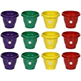 Gate Garden Gamla/Planter/Pot (8-inch) Set of 12 Pots in 4 Colours