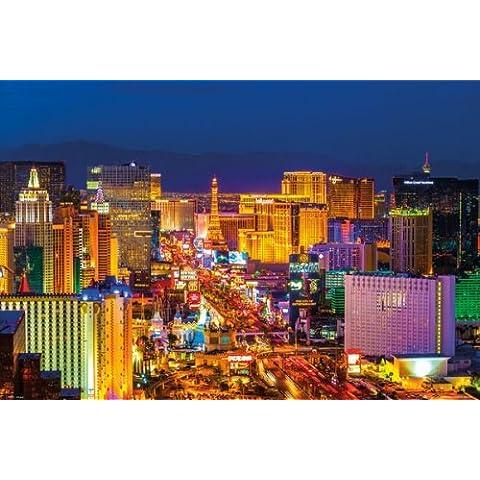 PopArtUK-Maxi Poster laminato, motivo: striscia di Las Vegas di notte, 91,5 x 61 cm