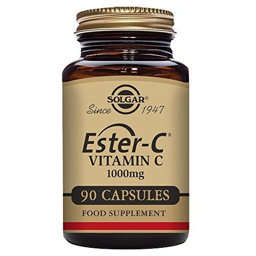 Solgar | Ester-C Plus | 1000mg | mit Vitamin C und Zitrus-Bioflavonoid-Komplex | 90 vegane Tabletten | glutenfrei | sojafrei (C Bioflavonoide Vitamin)