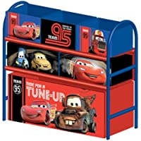 Delta Children's Products Multi Toy Organizer CARS mit 6 Fächern und Metallgestell Aufbewahrungsboxen Spielzeugregal preisvergleich bei kinderzimmerdekopreise.eu