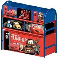 Preisvergleich für Delta Children's Products Multi Toy Organizer CARS mit 6 Fächern und Metallgestell Aufbewahrungsboxen Spielzeugregal