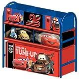 Multi Toy Organizer CARS mit 6 Fächern und Metallgestell Aufbewahrungsboxen Spielzeugregal