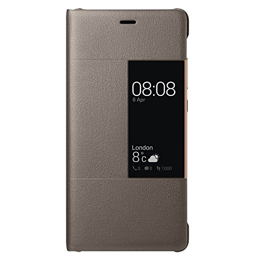 Huawei bt-51991511 view flip cover per p9, marrone