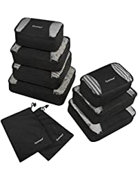 Gonex Kit de Sacs de Rangement Sacs à bagage sac de voyage Organisateur Valise Sac Cube à Emballer Vêtement Emballage Nylon Léger Durable