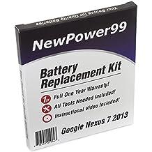 Kit de Reemplazo de la Batería para Google Nexus 7 2013 (Asus Google Nexus 7 Segunda Generación) Tablet con Video de Instalación, Herramientas y Batería de larga duración