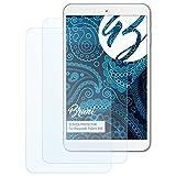 Bruni Schutzfolie für Blaupunkt Polaris 808 Folie, glasklare Bildschirmschutzfolie (2X)