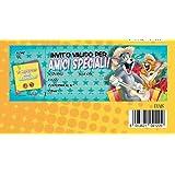 Bloc Carnet de 20invitaciones cumpleaños Tom y Jerry Amigos Especiales