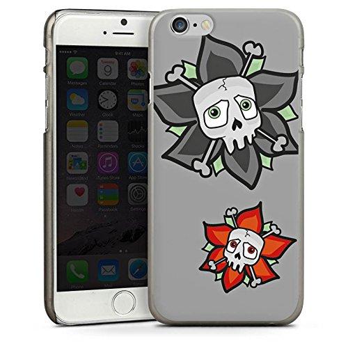 Apple iPhone 5s Housse Étui Protection Coque Fleurs Fleurs Tête de mort CasDur anthracite clair