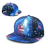 HONGYANW Hongyang - Gorra de béisbol Unisex con diseño de Anime Evangelion Kaiju Galaxy, de algodón, con Visera Plana, Color Azul