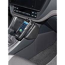 Kuda-Consola de teléfono para Toyota Auris a partir de 2015/,ecocuero color negro)
