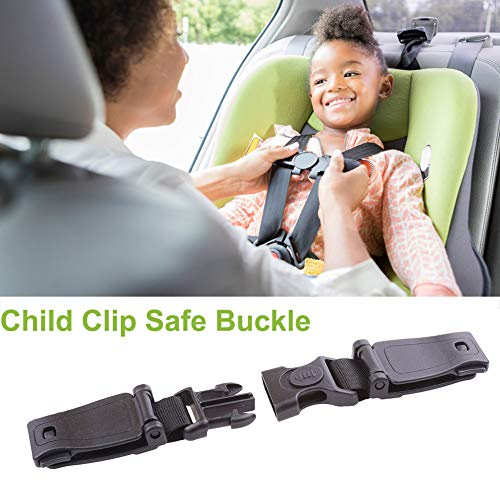 flower205 Auto Sicherheitsgurt Kind Clip,Car Safety Seat Strap Belt,Brustgurt Für Autosit Und Kinderwagen, Schwarz 1pcs (Clip Belt Safety Seat Car)