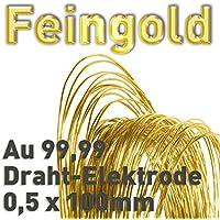 Oro Au 99,99% alambre de ánodo ⌀ 0,5 mm x 100 mm galvanoplástica Oro de electrodo 24 K 10 cm