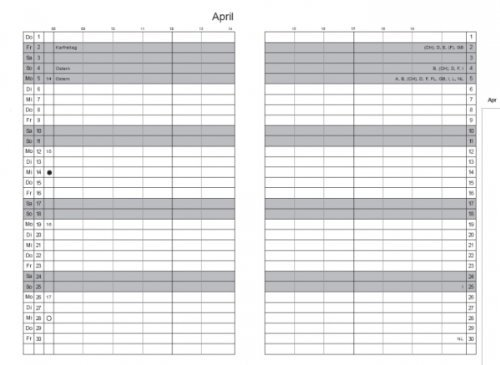 X17 Organizer Zubehoer A5 Monatskalender Classic 2019-2021
