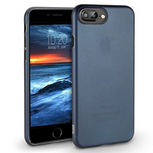 iPhone 8 Plus Hülle [UltraSlim, Slim, Slim-Fit], Orzly® - FlexiSlim Case für Apple iPhone 8 Plus / iPhone 7 Plus (5,5 ZOLL Version des 2016 Modells SmartPhone / Handy) - Extrem dünne Slim Case / Schut BLAU FlexiSlim für iPhone 7 PLUS
