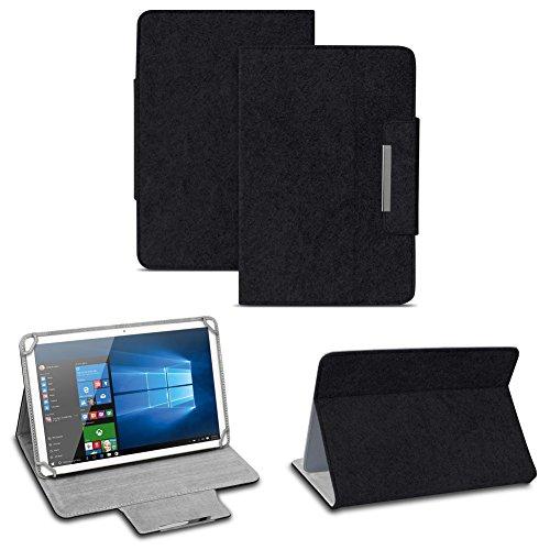 NAUC Filz Hülle für XIDO Z120 Z110 X111 X110 Z90 Tablet umweltfreundlichem Filz praktischer Standfunktion Schutztasche Stand Tasche Cover Case, Farben:Schwarz