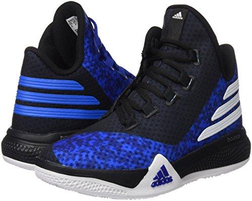 adidas Unisex Baby Light EM UP 2 J Basketball Turnschuhe, Blau / Weiß / Schwarz (Reauni / Ftwbla / Negbas), 36 EU -