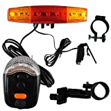 ETASSO Muti-Funktion LED Fahrrad Blinker Bremslicht Rücklicht Beleuchtung Lampe + Klingel