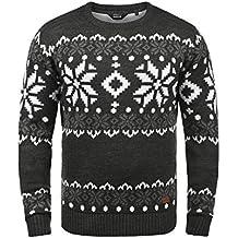 043189e947fb Solid Norwig Herren Weihnachtspullover Norweger-Pullover Winter  Strickpullover Grobstrick Pullover mit Rundhalsausschnitt !