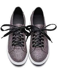OL Flat Lace Up atlético redondo dedo del pie simple casual sandalias UE tamaño personalizado 33-43 , purple , 43 (not returned)