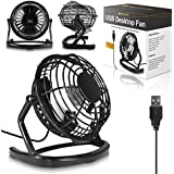 Black USB Retro Silent Office Desk Fan