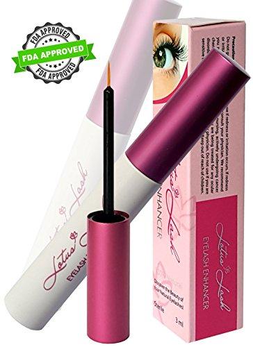 Lotus Eyelash Growth Serum FDA Approved 3ml-Best Natural Lash Enhancing Treatment- 100% Satisfaction Test