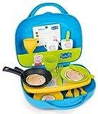 Smoby - 310605 - Peppa Pig - Mini Cuisine - Transportable - + 17 Accessoires Inclus - + 1 Fiche Recette Peppa Pig
