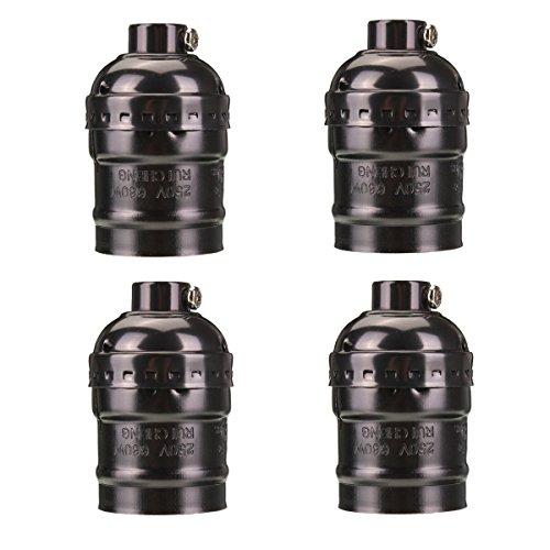 KINGSO 4 Pack Douille Edison E27 110-220V Adaptateur De Lampe Lustre Edison Retro Vintage En Cuivre Sans Fil Sans Interrupteur