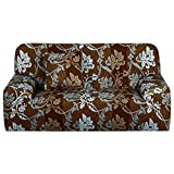 Sourcingmap Stretch Sofa Cover Loveseat Couch Slipcover, Machine Washable, Stylish Furniture Protector Covers with One Cushion Case (3 Seater, Pattern 1)