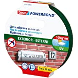 Tesa Powerbond - Cinta de doble cara para exteriores (5 m x 19 mm) color transparente