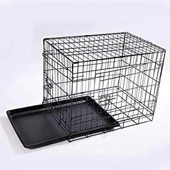 Cage de transport, noir, Large