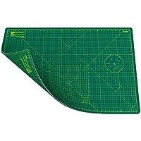 ANSIO Estera de corte de doble cara con 5 capas y guías para cortar en cm y pulgadas, en tamaño A1 (89 x 59 cm / 34 x 22.5 pulgadas), Verde