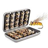 JasCherry 40 Piezas Insecto Señuelos de Pesca - Cebo de Pesca con Mosca de Alta Simulación