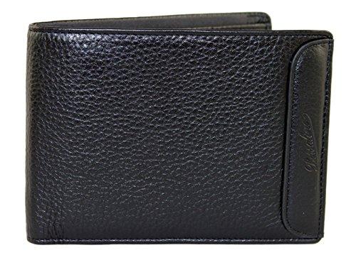Borsalino Geldbörse Geldbeutel Portemonnaie im Geschenkbox Leder 0091 Schwarz (Leder Borsalino)