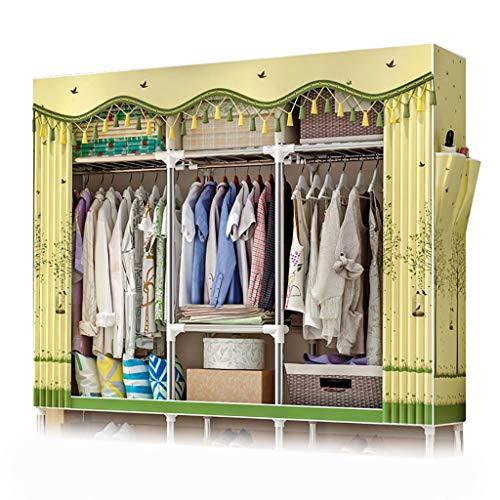 GUHAIBO Textilschrank Schrank,kleiderschrank stoffschrank Organizer Hanging,Wardrobe Closet Speicherorganisator,Handelsklasse Rostfrei,D_168x46x173cm