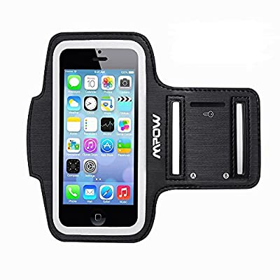 iPhone SE 5S 5 5C Sports Armband, Mpow Sweat-Free Running Armband + Key Holder for iPhone 5/5S/5C/SE, iPod Touch 5, with Adjustable Size, Safey Design, Suitable for Gym, Running, Biking, Hiking, Horseback Riding, Jogging, Downhill & Nordic Skiing, etc --