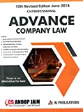 AJ Publication's Advance Company Law for CS Professional June 2018 Exam by Anoop Jain