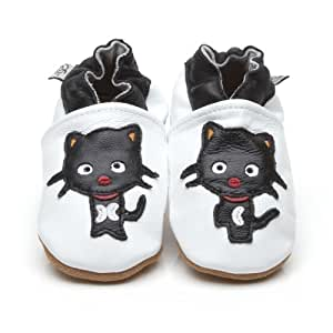 Soft Leather Baby Shoes Black Cat 6-12 months