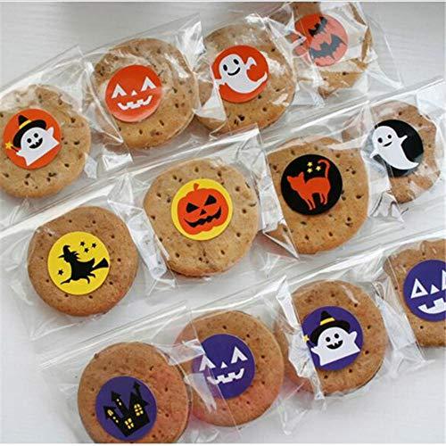 Halloween Aufkleber Schöne Dekorative Aufkleber Dekorationen Tagebuch Diy Flasche Cookie Box Neuheit Schreibwaren ()
