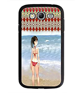 PrintDhaba Beach Girl D-2952 Back Case Cover for SAMSUNG GALAXY GRAND NEO PLUS (Multi-Coloured)